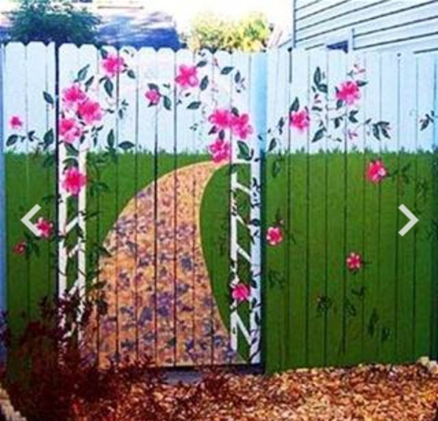 294 best images about outdoor garden murals on pinterest for Exterior mural painting techniques
