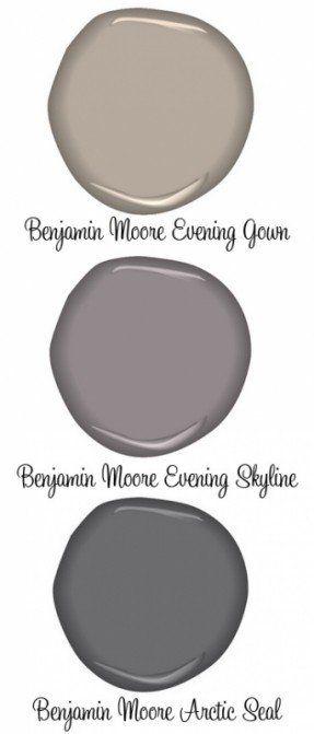 PAINT :: Benjamin Moore Evening Gown (greige), Evening Skyline &
