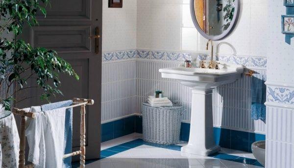 Retro koupelna Brennero - Ricordi Country - Bleu