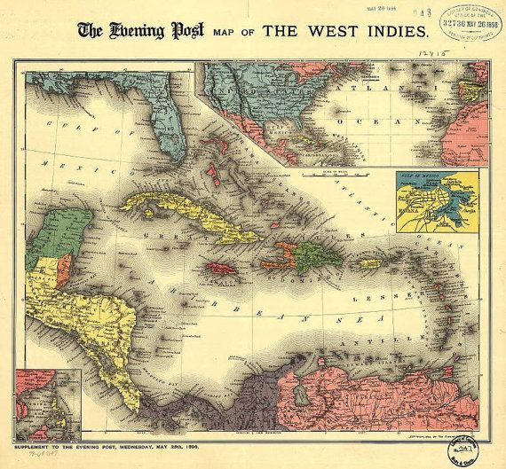 Best Antique Caribbean Maps Images On Pinterest Antique Maps - Caribbean maps