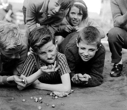 Marbles 1950's, I loved my marbles, played all kinds of games with them.
