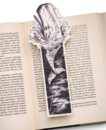 Moby Dick Bookmark, the famous white sperm whale
