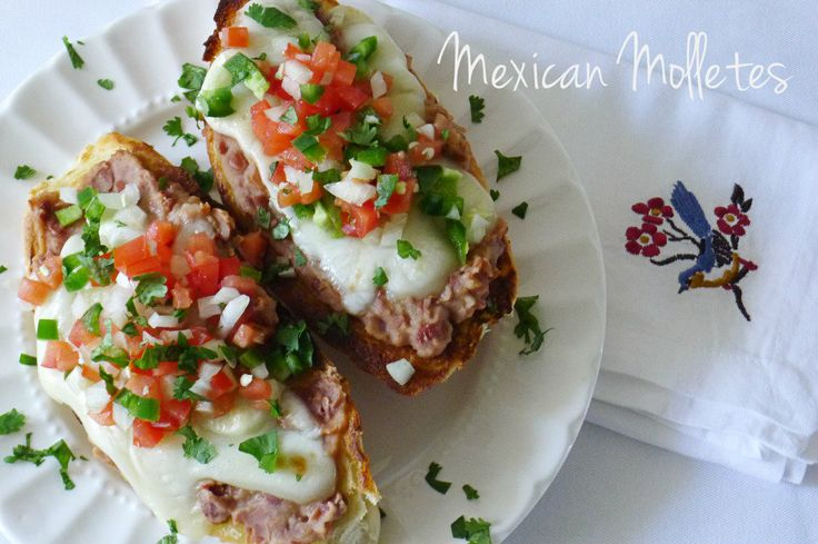 Mexican Molletes by Nibbles and Feasts! Can't wait to try!