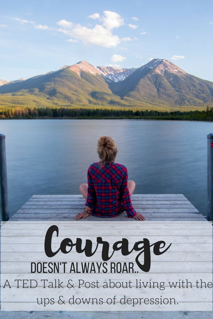 Courage doesn't always roar.. Sometimes Courage is the voice at the end of the day, that whispers, try again tomorrow. #selfcare #depression #courage #blog