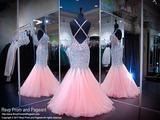 Light Pink Beaded Mermaid Prom Dress - Rsvp JOL - Long Gown - Rsvp Prom and Pageant Atlanta, Georgia GA - 2 - best prom store
