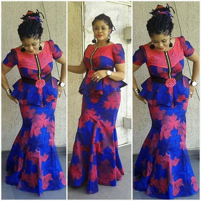 Beautiful Ankara Skirt and Blouse Style~ African fashion, Ankara, kitenge, Kente, African prints, Braids, Asoebi, Gele, Nigerian wedding, Ghanaian fashion, African wedding ~DKK
