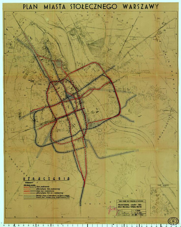 Przedwojenny plan metra