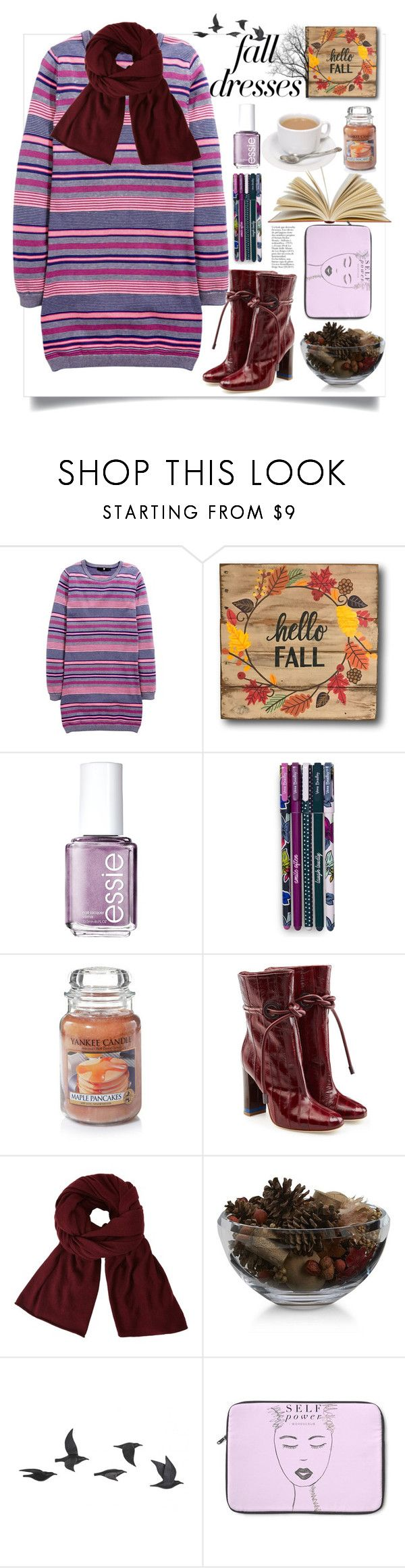"""""""Fall Dress"""" by natalyapril1976 on Polyvore featuring Essie, Vera Bradley, Malone Souliers, John Lewis, Crate and Barrel and Jayson Home"""