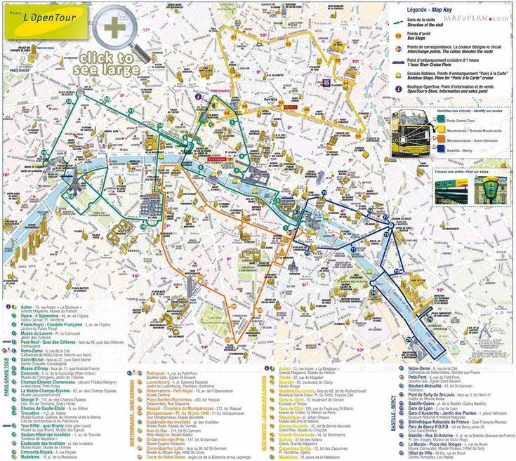 Exceptionnel 11 best Paris top tourist attractions map images on Pinterest  QD01