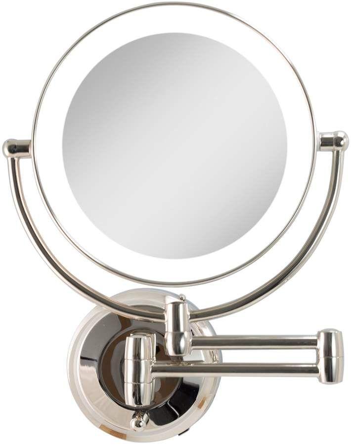 Zadro Cordless Led Wall Mount 1x 10x Mirror Qvc Com Makeup Mirror Polished Nickel Mirror
