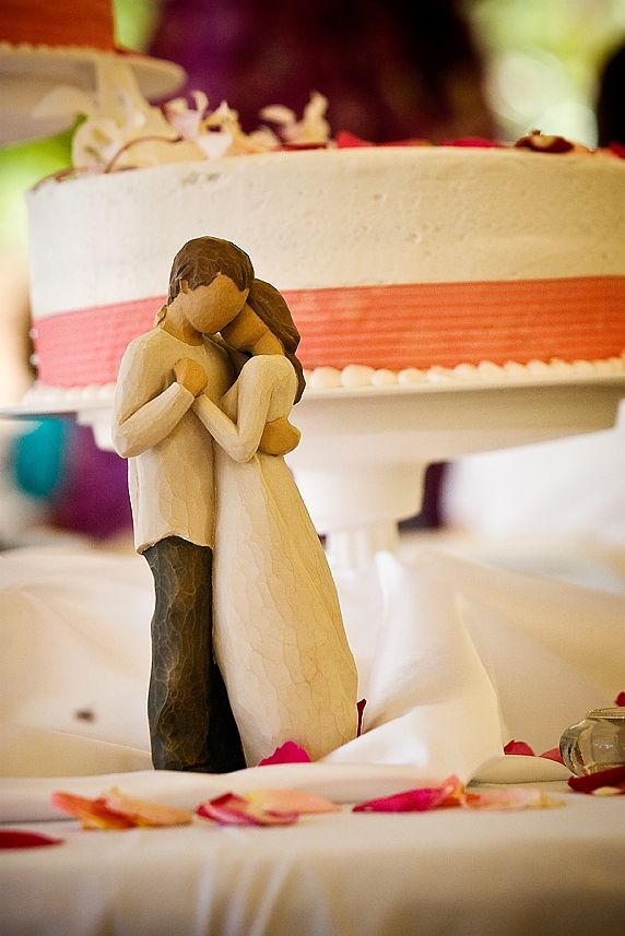 Sweet wedding cake topper idea   Marcia Campbell Photography
