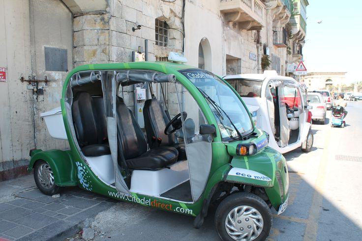 Taxi eléctrico de La Valletta en Malta