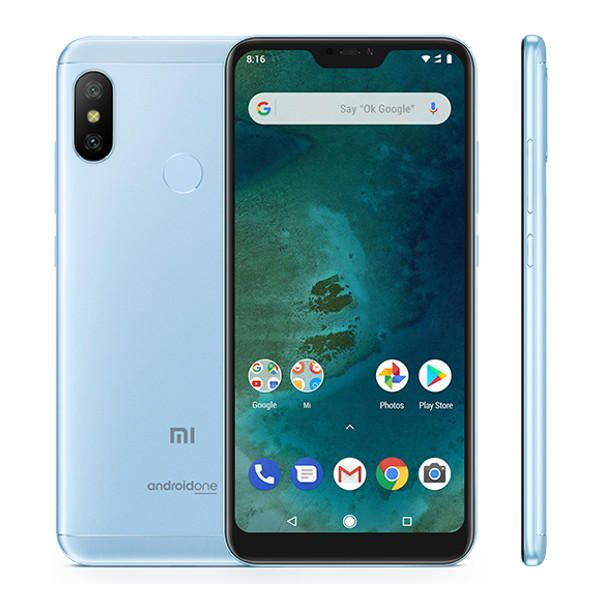 Xiaomi Mi A2 Lite Global Version 5 84 Polegadas 4 Gb Ram 64gb Rom Snapdragon 625 Octa Core 4g Smartphone Xiaomi Smartphone Android One