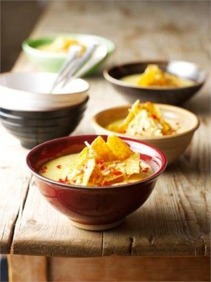 Sweetcorn Chowder with Toasted Tortillas