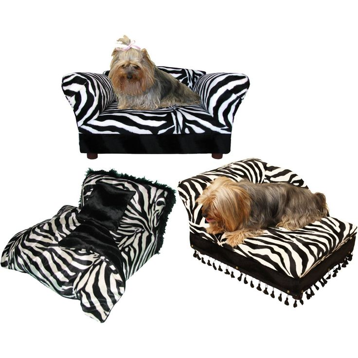 fantasy furniture 3 pcs pet set sofa chaise and bed in zebra and leopard