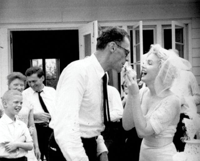 Marilyn Monroe weds playwright Arthur Miller on June 29, 1956.