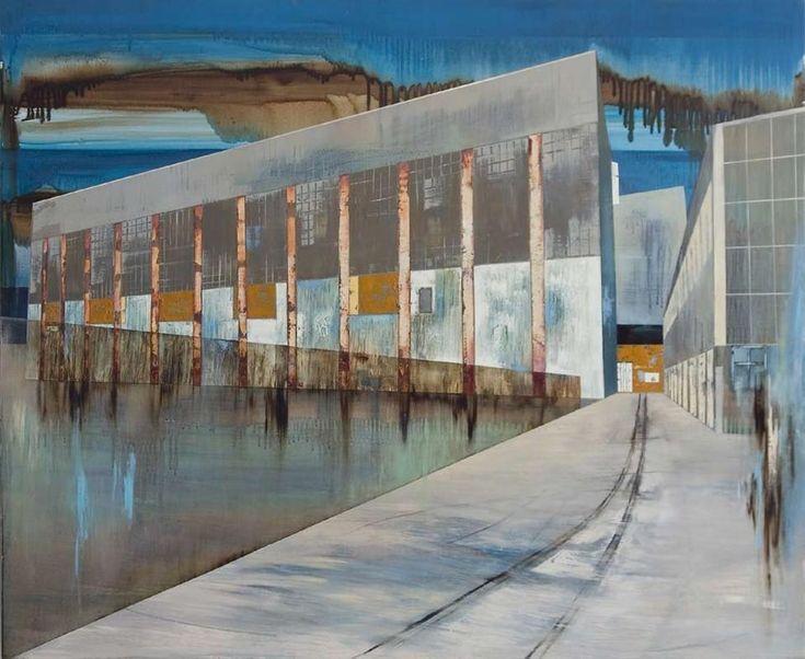 Jane Mitchell - Power Station at Meremere. Sanderson Gallery