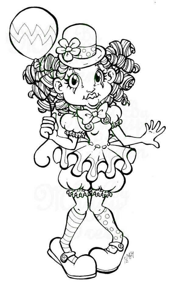 Google image of clown for coloring pages for Clown coloring pages for adults