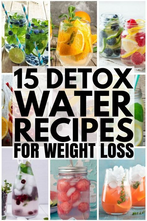 15 Detox Water Recipes For Weight Loss and Clear Skin ...