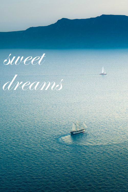 Sweet dreams / sea / boat .   Post this serene picture on your facebook timeline to say goodnight to your friends.