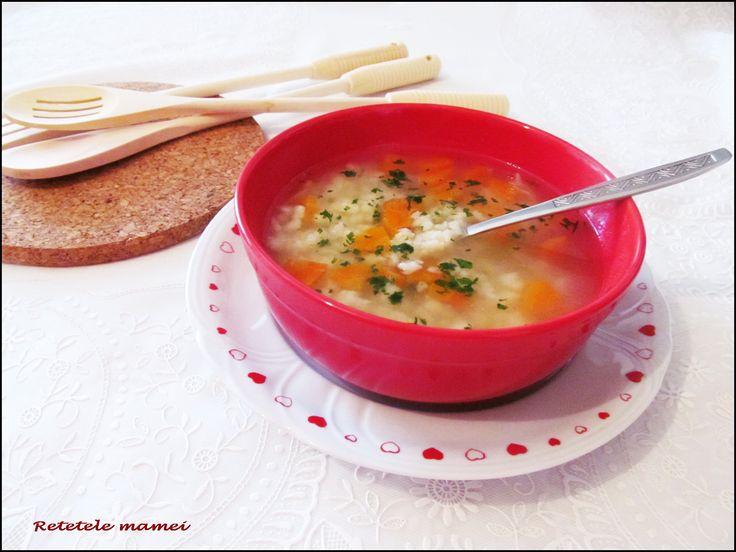 Supă cu răzătură de aluat