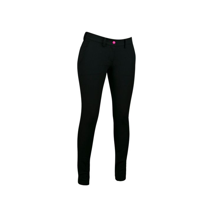 Ladies Disc Golf Appparel - LADIES DISC DACS  Flattering and functional, these pants can be worn all day, every day - no need to detour home to change. Flexible enough for any activity – from cycling to the course to warm up stretches. Available in slimming black. Zip pockets provide places for keys and phone. For more details, visit https://www.dudeclothing.com/collections/ladies/products/ladies-disc-dacs?variant=17906773509 now!