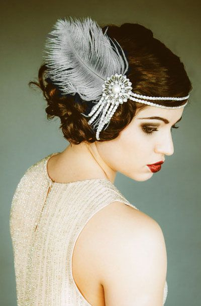 Lovely Clusters - Beautiful Shops: Flapper Headpiece, Vintage Inspired, Bridal Headband