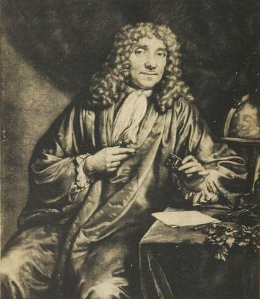 Antonie van Leeuwenhoek, the first person to use a microscope to view bacteria