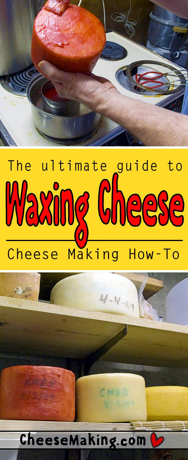 We get many questions on waxing cheese as well as requests for help when mold forms under the wax. This article will help answer your questions and guide you through the waxing process. You'll also find some helpful tips for when things do not go as planned when aging cheese.