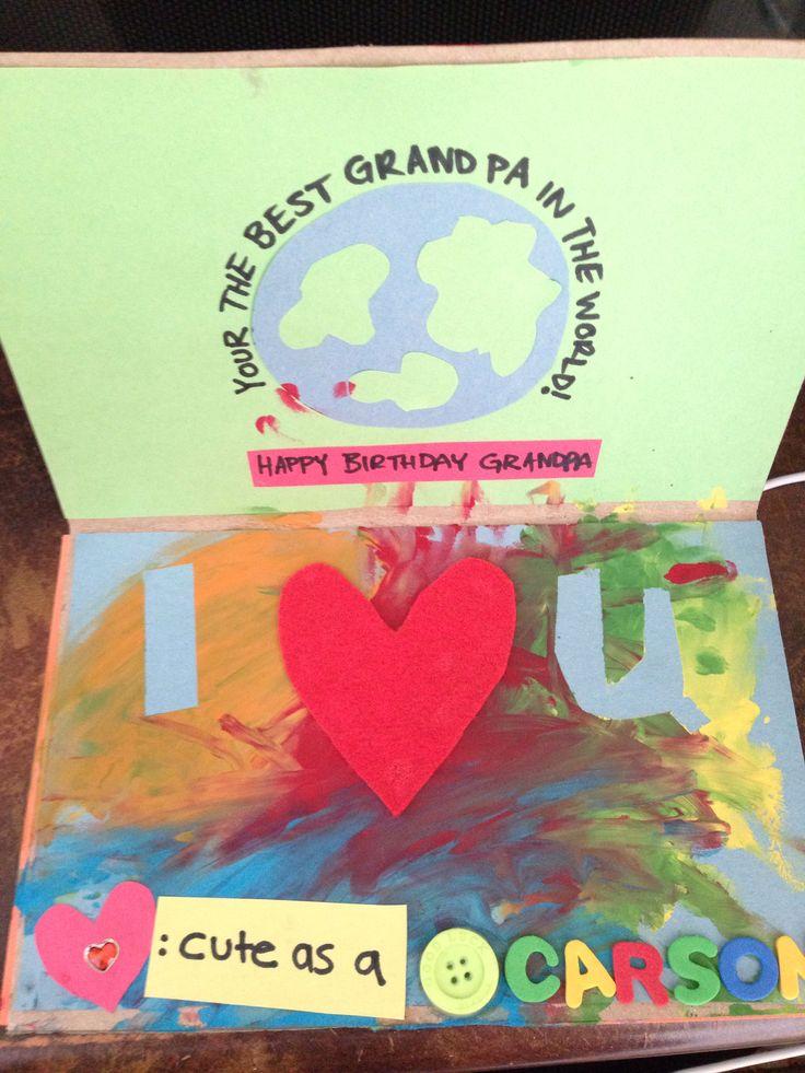 Grandpas birthday card.