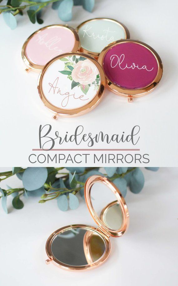 Etsy Personalized Compact Mirrors Make Great Gifts For Your Bridesmaids And B Bachelorette Party Gifts Wedding Party Favors Bridesmaids Gifts For Wedding Party