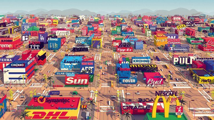 Logorama: Marka logolarının bir karakteri canlandırdığı kurgusal dünya. Marka imajı ve tüketici algısı üzerine bir animasyon.  https://vimeo.com/10149605