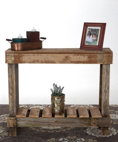 Look at this #zulilyfind! Natural Barnwood Sofa Table #zulilyfinds