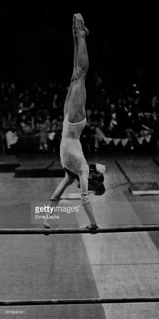 MAR 2 1976, MAR 3 1976; Comaneci, Nadia - Ind; Romanian Gymnast; who never has been defeated in all-around competition displays skill in Tuesday's exhibition.;