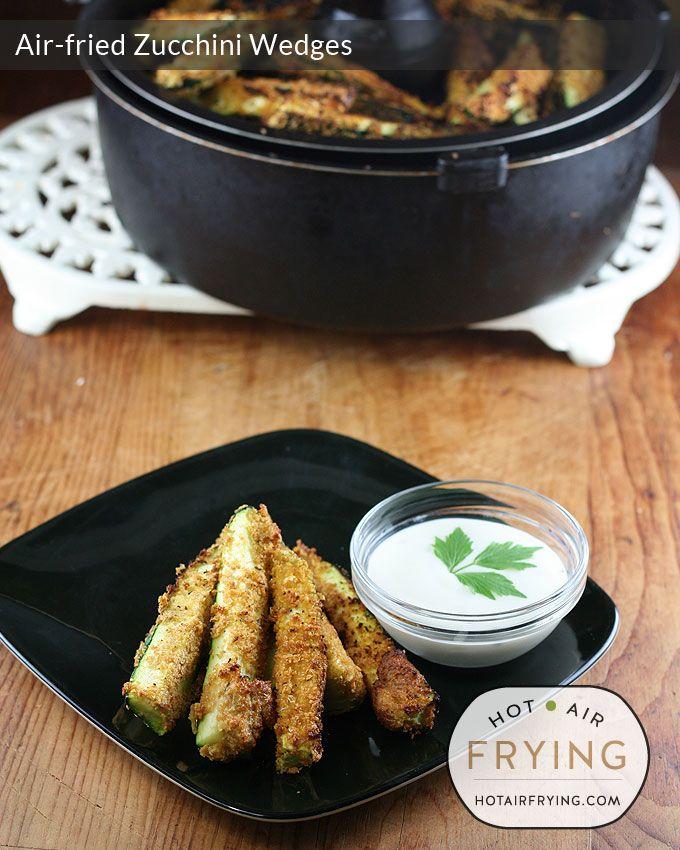 Air-fried Zucchini Wedges