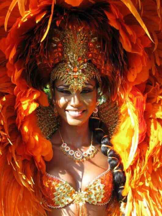 Carnival queen makeup