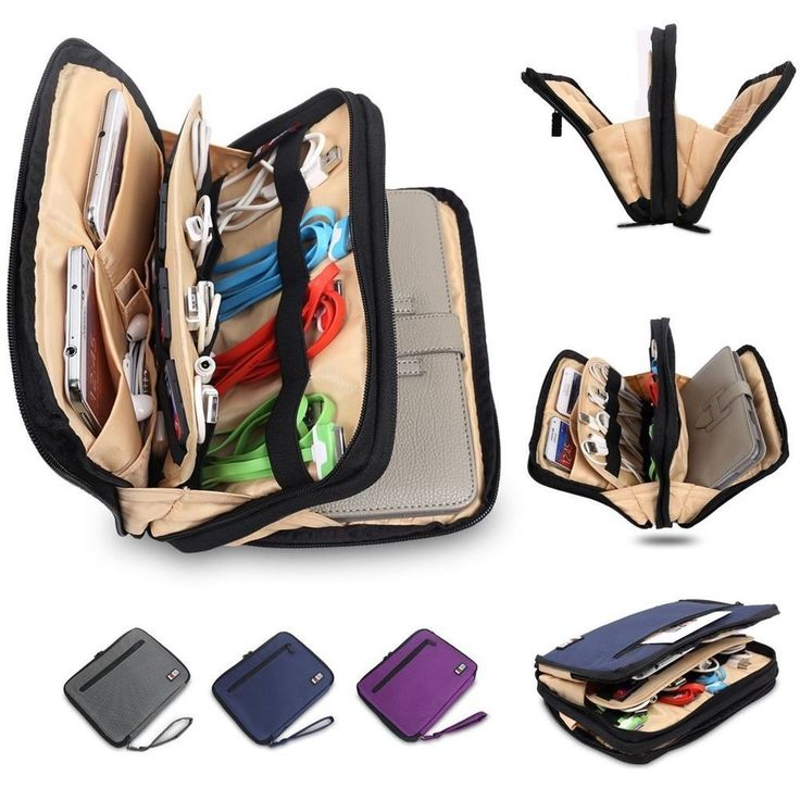 Organizer Bag Case for Ipad Mini Samsung Galaxy Tablet Sleeve Pouch Drive Travel #BUBM