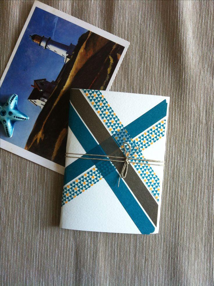 Mini Notebook - Handmade - Hopper - Tape - Ribbon