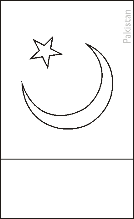 pakistani flag coloring page