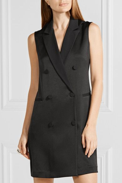 rag & bone - Adler Satin Mini Dress - Black