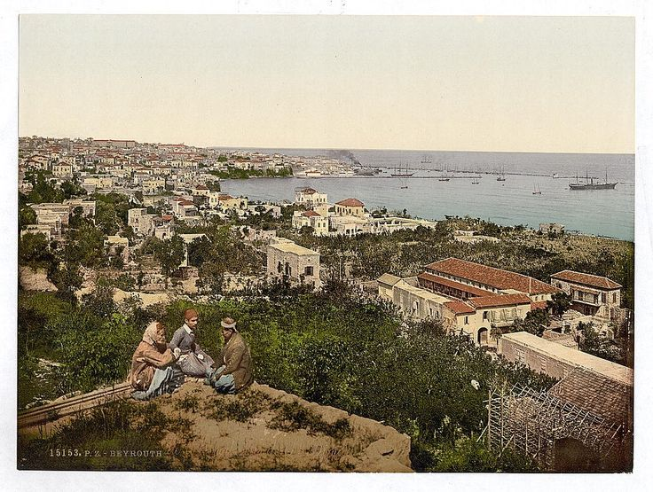 Now let's look around the rest of the Holy Land ... Beirut was a large city even at the turn of the century.