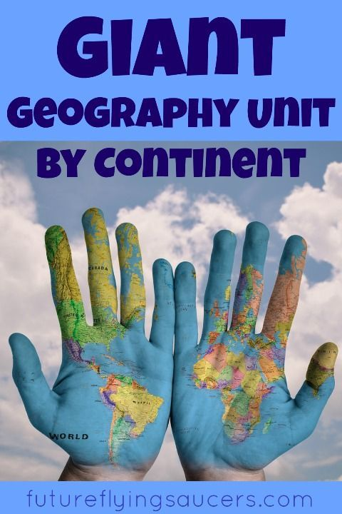 Explore each continent and many countries using this Giant Geography Unit resource! ~ futureflyingsaucers.com
