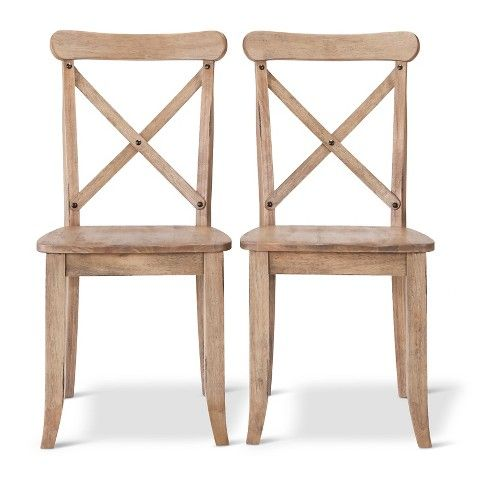 $180 for 2 chairs, other colors too http://www.target.com/p/french-country-x-back-dining-chair-set-of-2/-/A-17332537#prodSlot=medium_6_22