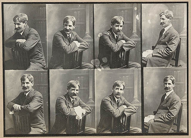 Henry Lawson, 1915 / by William Johnson.    Henry Lawson (1867-1922) was an Australian writer, poet and journalist. He is best known for his bush poems and short stories, including the anthology 'While the billy boils'.   Find more detailed information about this photograph: http://acms.sl.nsw.gov.au/item/itemDetailPaged.aspx?itemID=442278    Search for more great images in the   From the collection of the State Library of New South Wales www.sl.nsw.gov.au