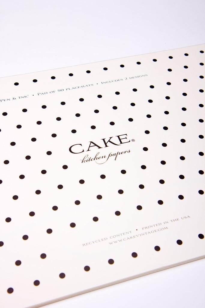 Pen U0026 Ink Paper Placemat By Cake Vintage