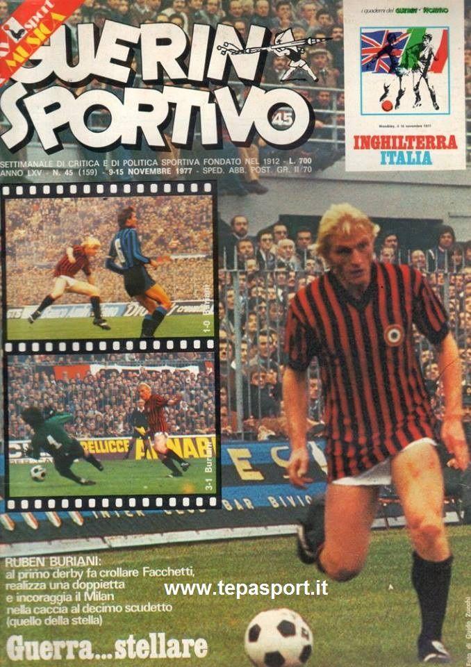 Novembre 1977 Dal Guerin Sportivo, Ruben Buriani e la sua doppietta ... ⚽️ C'ero anch'io ... http://www.tepasport.it/   Made in Italy dal 1952