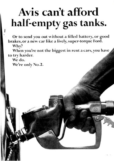 "Original ""We Try Harder"" Avis Ad, 1962"