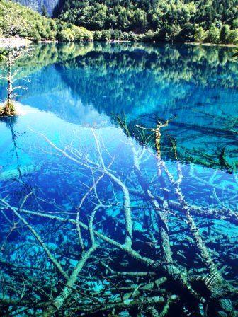 九寨溝(きゅうさいこう)五花海 -世界の不思議な観光名所