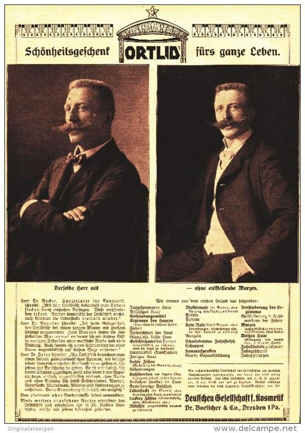 Original-Werbung/ Anzeige 1910 - 1/1 SEITE: ORTLID /DEUTSCHE GESELLSCHAFT FÜR…