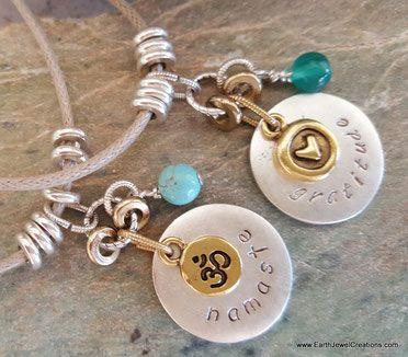 Word jewelry inspiration, crystal jewellery, yoga jewelry, namaste